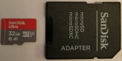 microSDHC card with adapter